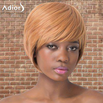 Shaggy Short Full Bang Straight Synthetic Adiors Wig