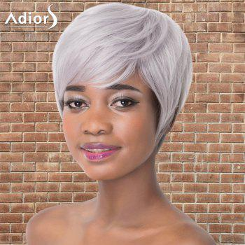 Short Full Bang Shaggy Straight Synthetic Adiors Wig