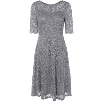 A Line Openwork Lace Dress