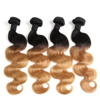 1 Pcs Body Wave 6A Virgin Brazilian Ombre Color Hair Weave
