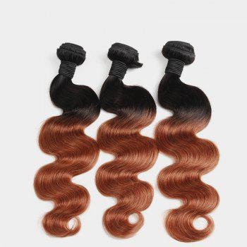 1 Pcs Body Wave 6A Virgin Brazilian Double Color Hair Weave - COLORMIX 20INCH