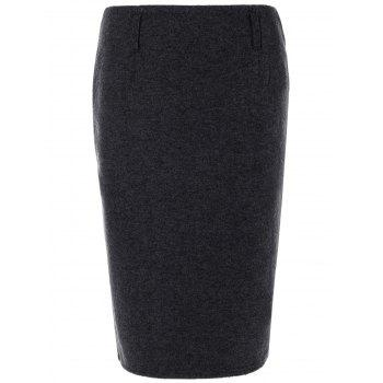 Woolen Pencil Skirt