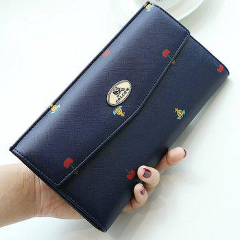 Print PU Leather Clutch Wallet