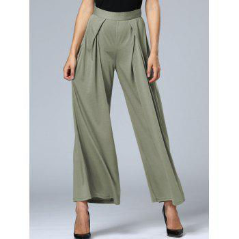 Long Pleated Palazzo Wide Leg Pants