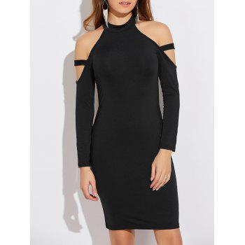 Cold Shoulder Long Sleeve Bodycon Dress
