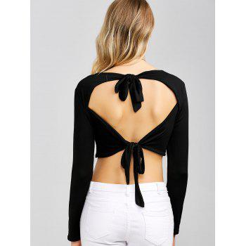 Open Back Bowknot Crop Top
