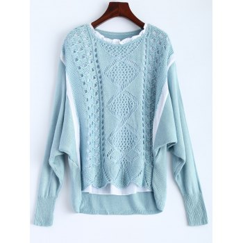 Scalloped Dolman Sleeve Crochet Sweater
