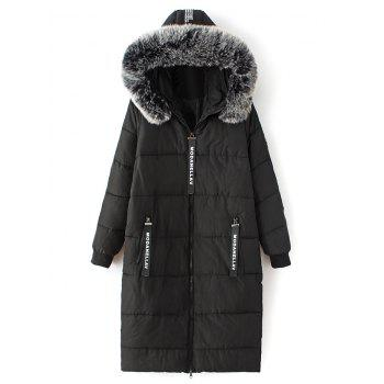 Hooded Number Padded Coat