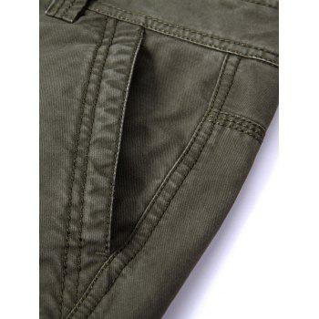 Loose Multi Pocket Zipper Fly Pants - ARMY GREEN ARMY GREEN