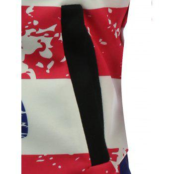 3D Abstract Stars and Stripes Print Padded Jacket - XL XL