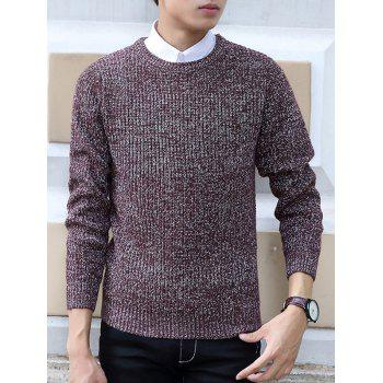 Slimming Knit Blends Long Sleeve Sweater