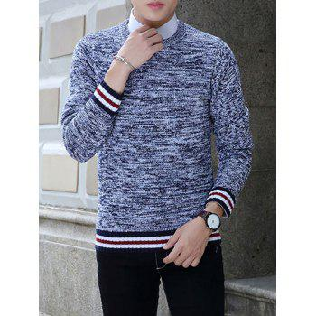 Stripe Splicing Knit Blends Long Sleeve Sweater