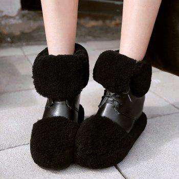 Faux Fur Insert Hidden Wedge Snow Boots