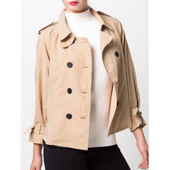 Double-Breasted Loose Duster Jacket