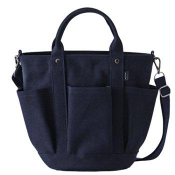 Metal Pockets Canvas Tote Bag