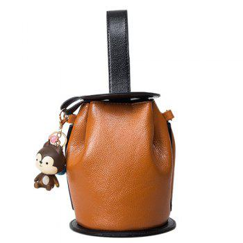 PU Leather Lantern Shape Crossbody Bag