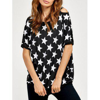 Cut Out Star Pattern Tee