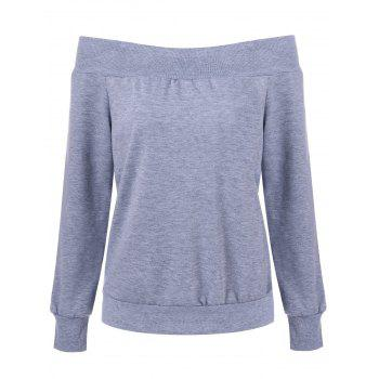 Off The Shoulder Pullover Sweatshirt