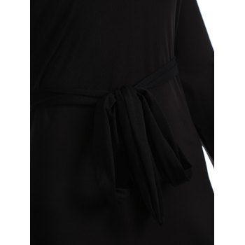 Off The Shoulder Skinny Minceur Robe - Noir XL