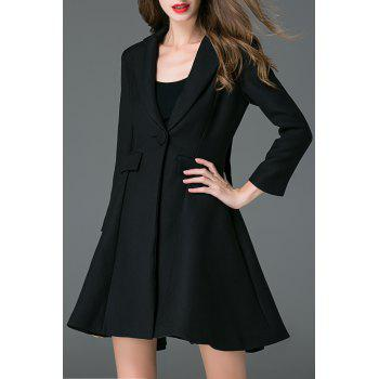 Lapel Collar One Button Skater Coat