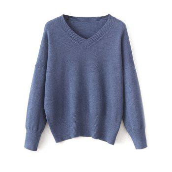 V Neck Long Sleeve Pullover Sweater