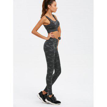 Camouflage Bra With Yoga Leggings - CAMOUFLAGE M