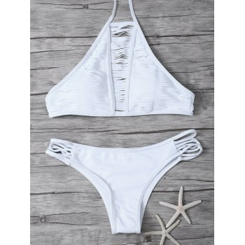 High Neck Halter Strappy Bikini