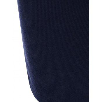 Zipper Embellished Stretchy Tight Dress - CADETBLUE ONE SIZE