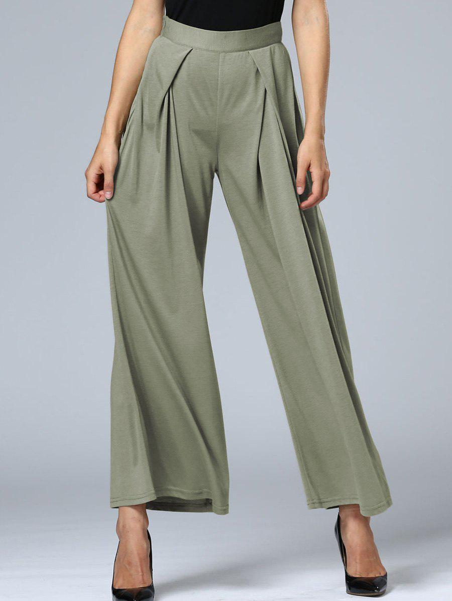 Long Pleated Palazzo Wide Leg Pants от Dresslily.com INT