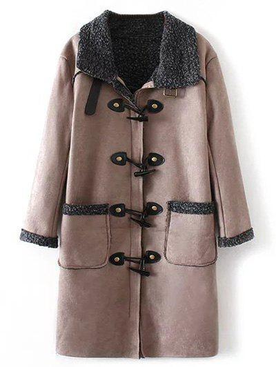 Faux Suede Fleece Trim Coat faux suede fleece lined winter coat