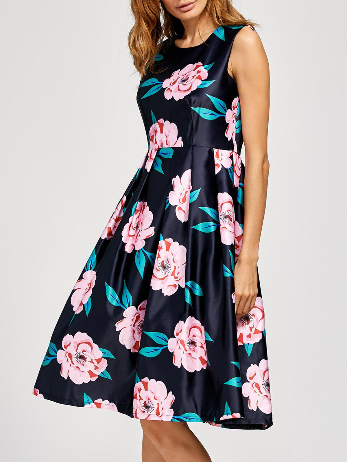 Floral Fit And Flare Midi Dress floral fit and flare midi dress