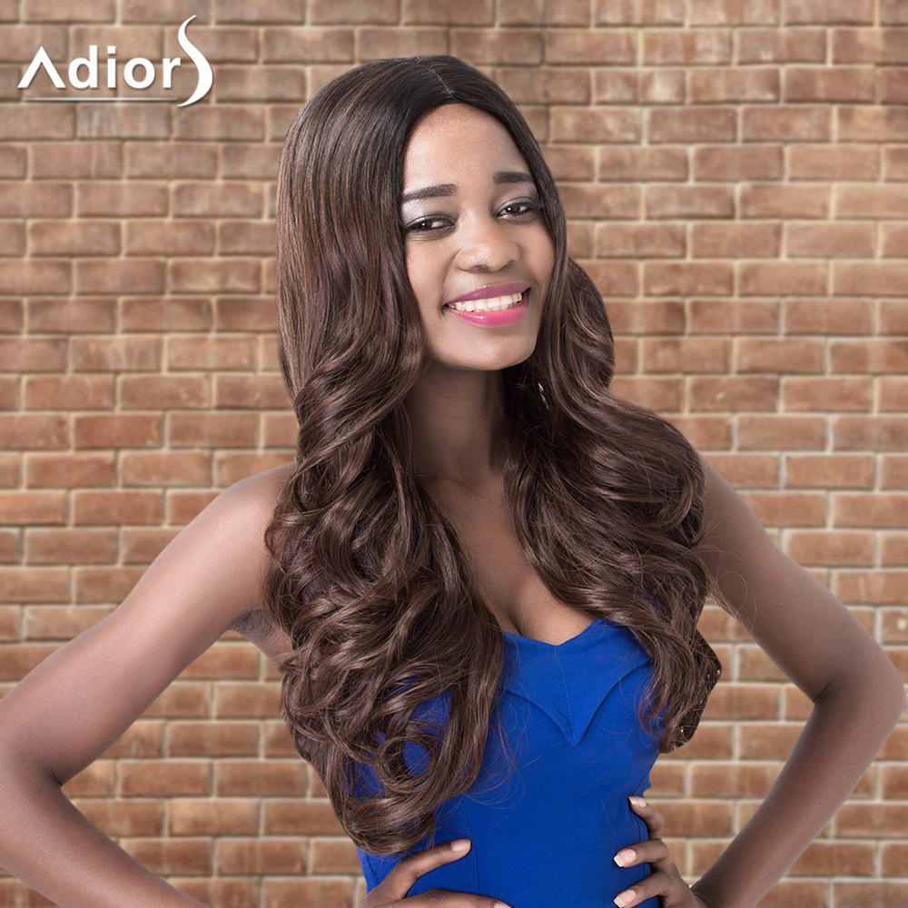 Adiors Long Wavy Middle Parting Shaggy Synthetic Wig