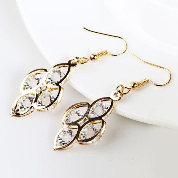 Fake Gem Geometric Drop Earrings