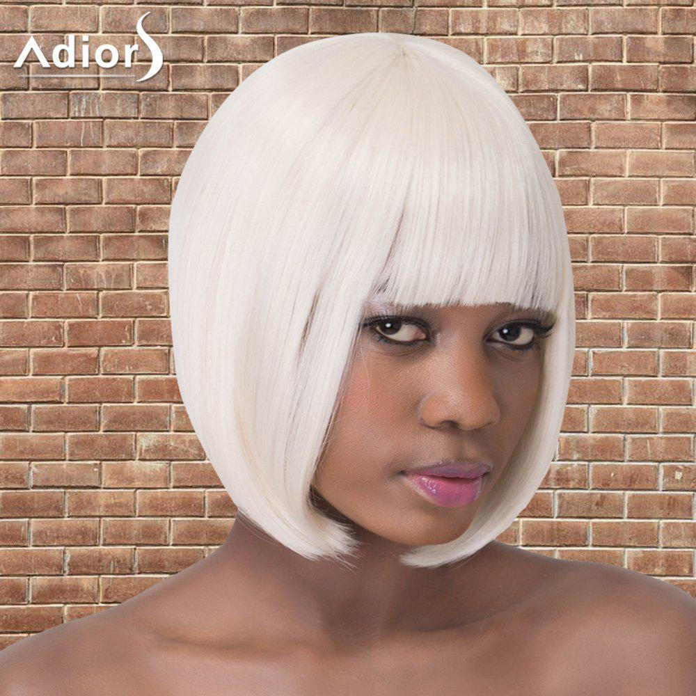 Short Full Bang Straight Bob Haircut Synthetic Adiors Wig от Dresslily.com INT