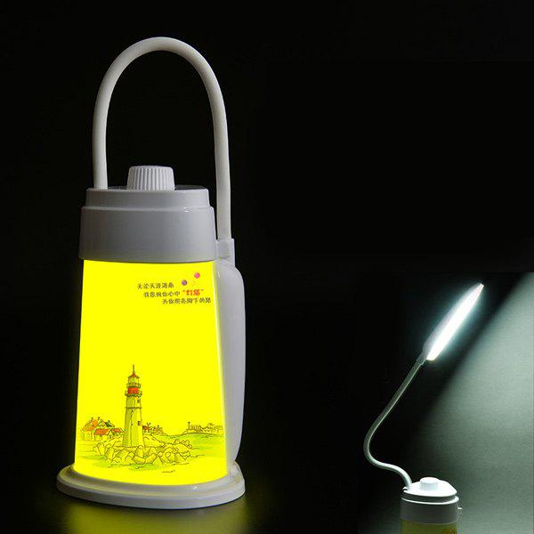 Multifonctionnel USB LED de charge Phare extérieur Portable Night Light - Blanc