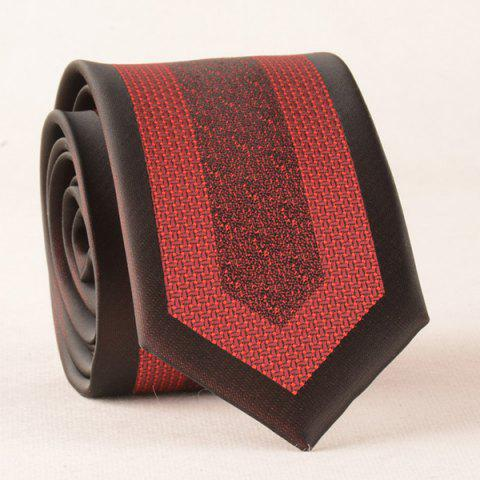 Vintage Geometry Jacquard Polyester Neck Tie - RED