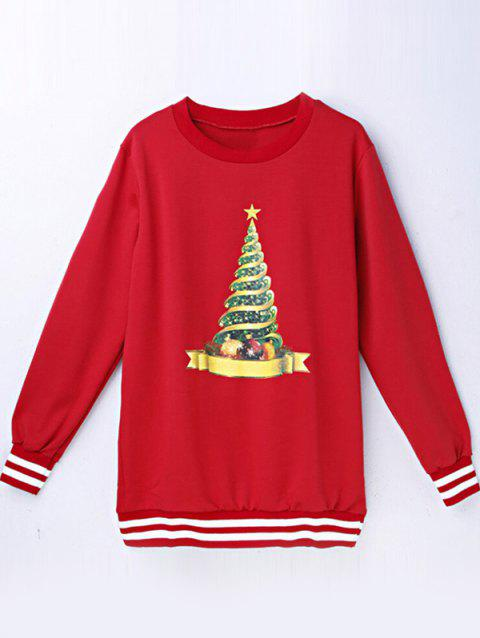 Christmas Tree Graphic Sweat-shirt - Rouge S