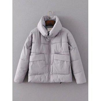 Double Pockets Quilted Jacket