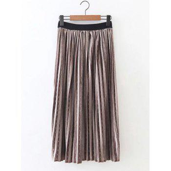 Retro Pleated Long Skirt