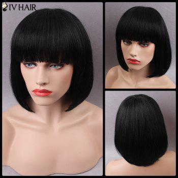 Siv Short Full Bang Shaggy Straight Bob Human Hair Wig