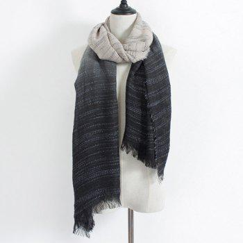 Fringe Double Color Gradient Scarf
