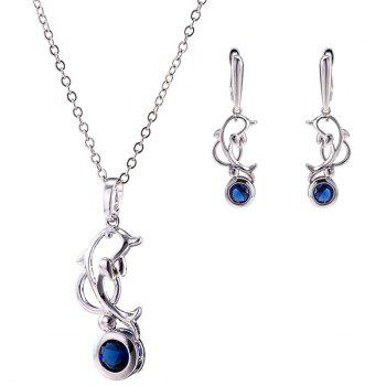 Dolphin Zircon Necklace Set