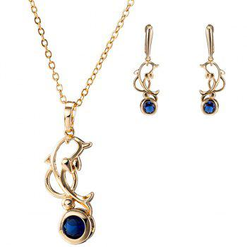 Zircon Dolphin Necklace Set