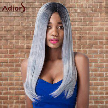 Adiors Long Side Parting Ombre Cosplay Silky Straight Synthetic Wig