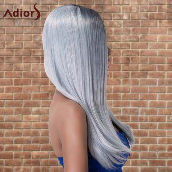 Adiors Long Side Parting Ombre Cosplay Silky Straight Synthetic Wig - multicolorCO