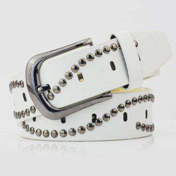 Wavy Rivets PU Wide Belt