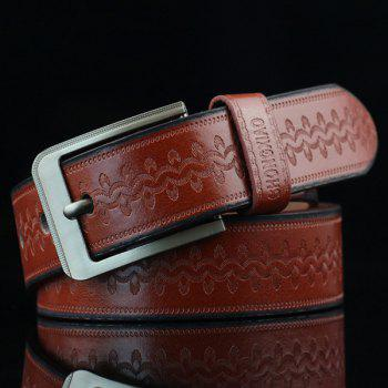 Retro Wavy Embossed Wide Belt