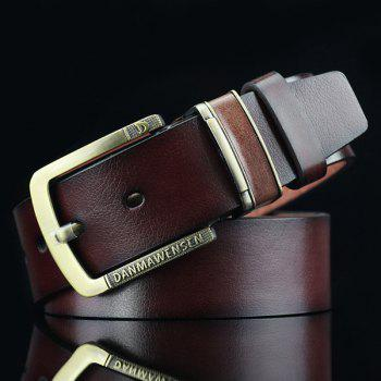 Letters Cameo Buckle PU Wide Belt