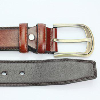 Pin Buckle PU Ceinture large - Brun