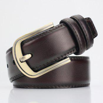 Pin Buckle PU Wide Belt